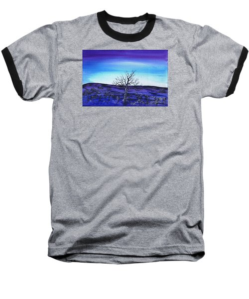 Shades Of Blue Baseball T-Shirt by Kenneth Clarke