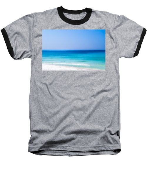 Shades Of Blue Baseball T-Shirt by Shelby  Young