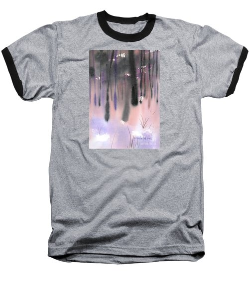 Baseball T-Shirt featuring the painting Shades Of Forest by Yolanda Koh