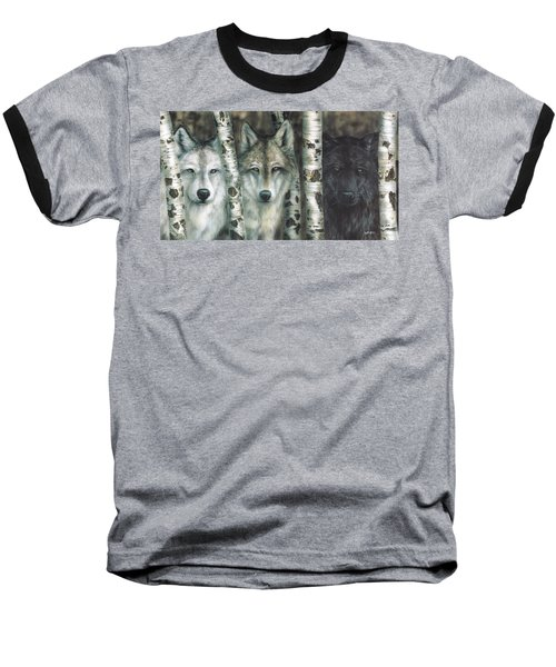Shades Of Gray Baseball T-Shirt