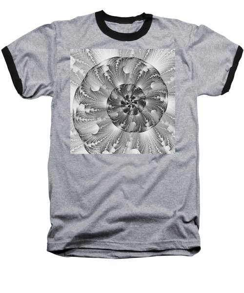 Baseball T-Shirt featuring the digital art Shades Of Silver by Lea Wiggins