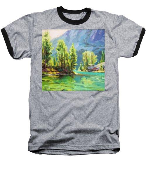 Shades Of Turquoise Baseball T-Shirt