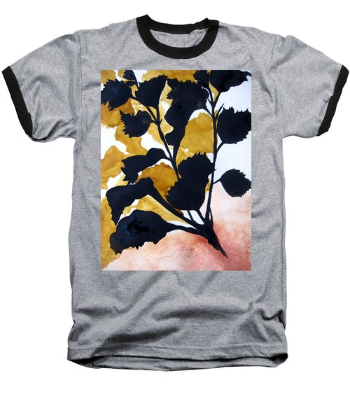 Shadow Hibiscus Baseball T-Shirt