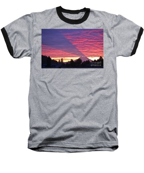 Shadow Of Mount Rainier Baseball T-Shirt
