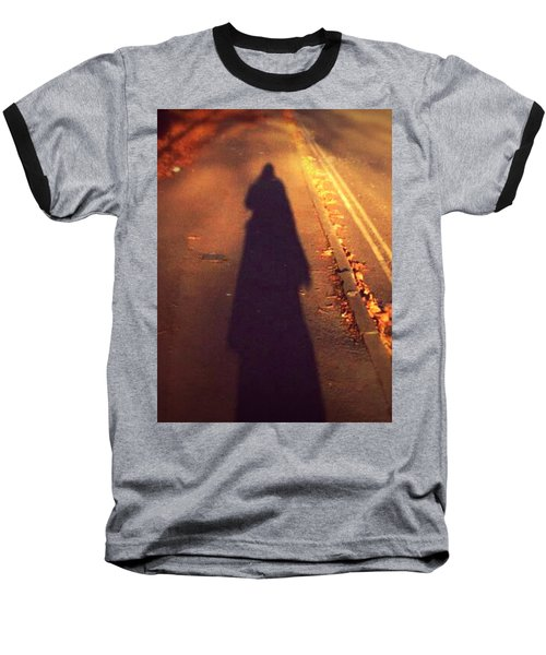 Baseball T-Shirt featuring the photograph Shadow by Persephone Artworks
