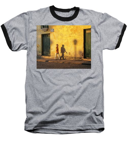 Shadow Walking Baseball T-Shirt