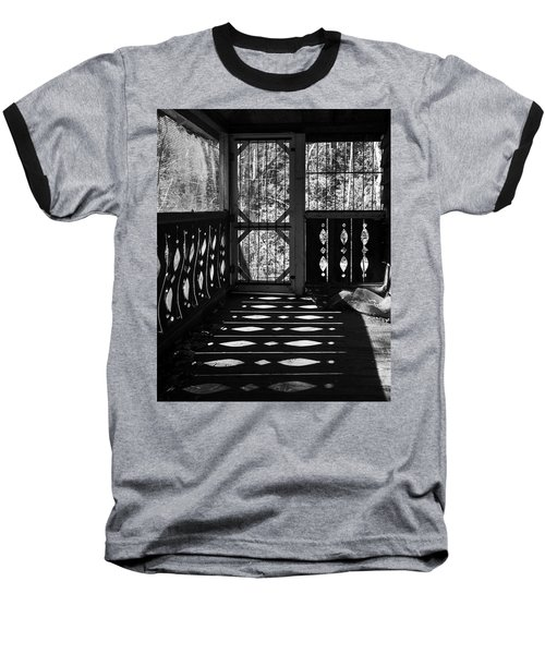 Baseball T-Shirt featuring the photograph Shadows And Bars by Alan Raasch