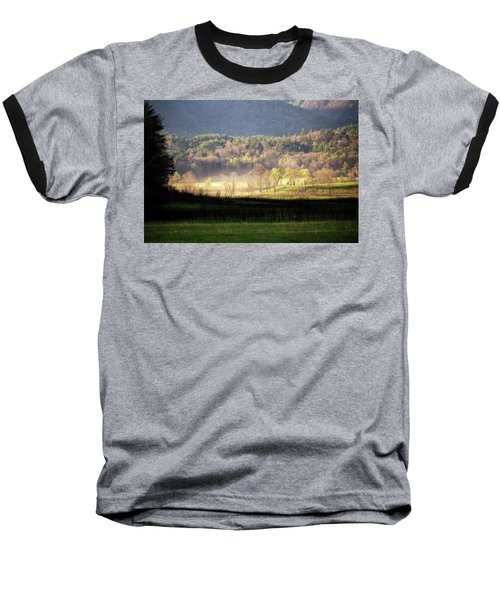 Baseball T-Shirt featuring the photograph Shadows And Mist by Alan Raasch