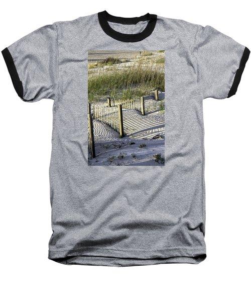 Shadows On The Dune Baseball T-Shirt by Elizabeth Eldridge