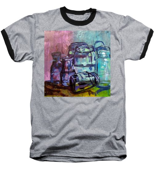 Shadows Through Glass Baseball T-Shirt by Barbara O'Toole