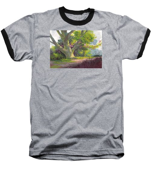 Shady Oasis Baseball T-Shirt by Michael Humphries