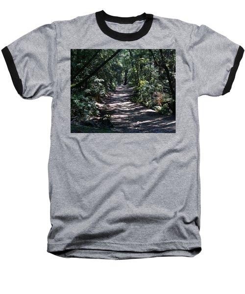 Shady Road On Mt Tamalpais Baseball T-Shirt