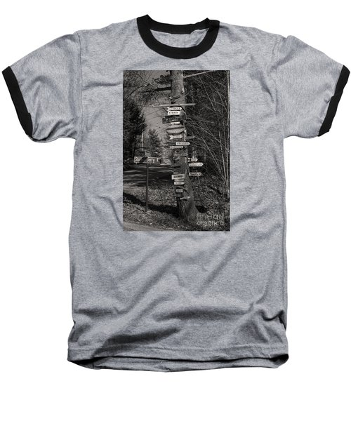 Baseball T-Shirt featuring the photograph Shaker Jerry Road-moultonborough N H by Mim White