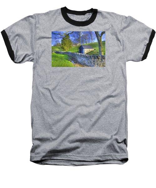 Shaker Stone Wall 6 Baseball T-Shirt