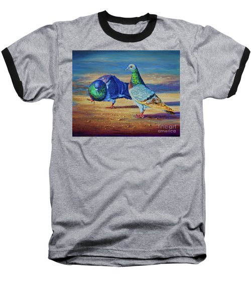 Baseball T-Shirt featuring the painting Shall We Dance? by AnnaJo Vahle
