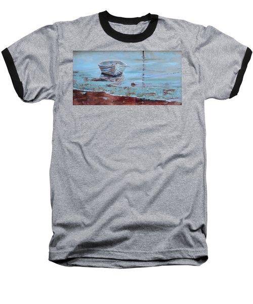 Shallow Tether Baseball T-Shirt by Trina Teele