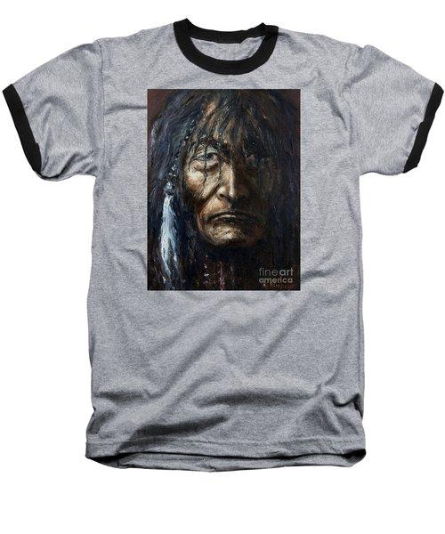 Baseball T-Shirt featuring the painting Shaman by Arturas Slapsys