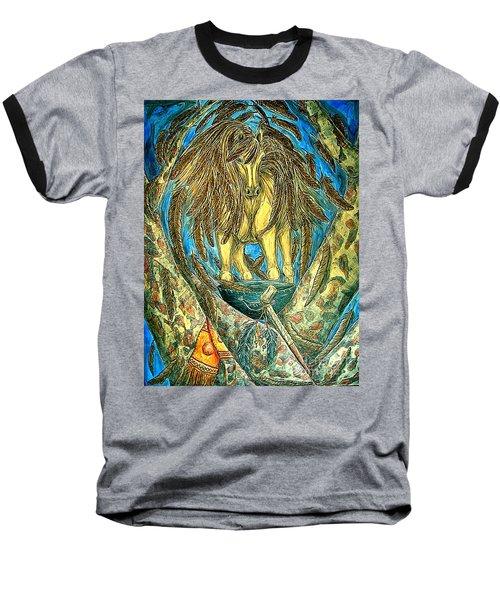 Shaman Spirit Baseball T-Shirt by Kim Jones