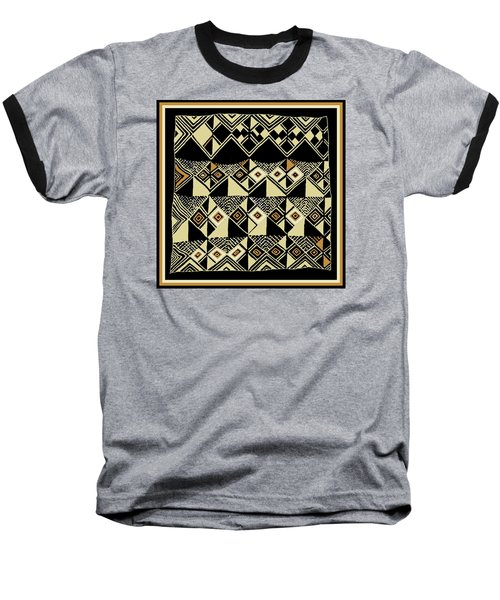 Baseball T-Shirt featuring the digital art Shaman Tribal Kuba by Vagabond Folk Art - Virginia Vivier