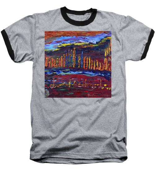 Baseball T-Shirt featuring the painting Shanah Tovah by Vadim Levin