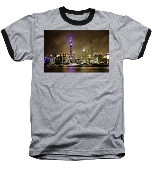 Shanghai Skyline Baseball T-Shirt