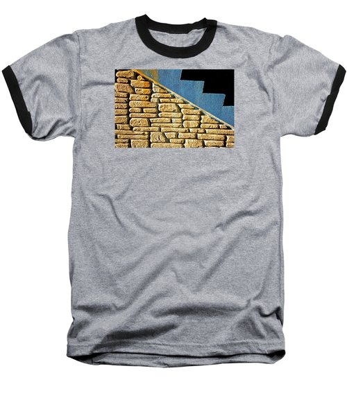 Shapes And Forms Of Station Stairway Baseball T-Shirt by Gary Slawsky
