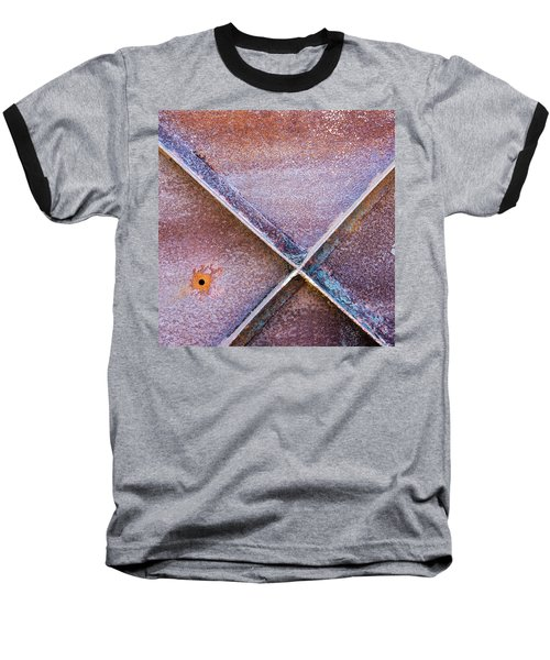 Baseball T-Shirt featuring the photograph Shapes And Textures On Bunker Door by Gary Slawsky