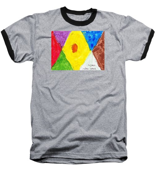 Baseball T-Shirt featuring the painting Shapes by Artists With Autism Inc