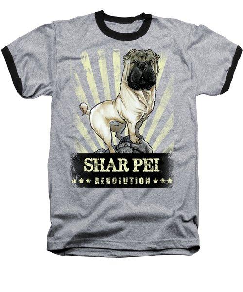 Shar Pei Revolution Baseball T-Shirt