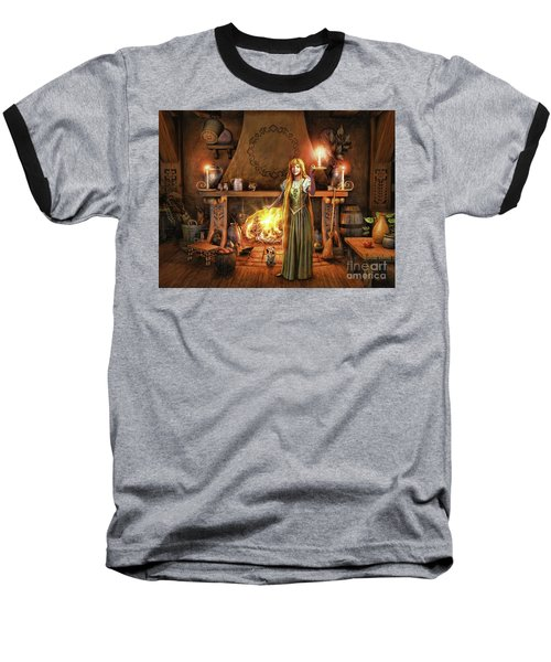 Baseball T-Shirt featuring the painting Share My Fire And Candle Light by Dave Luebbert