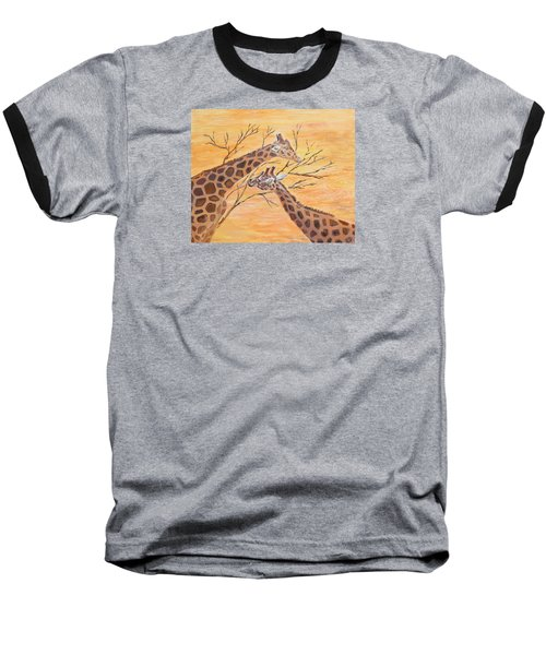 Baseball T-Shirt featuring the painting Sharing by Elizabeth Lock