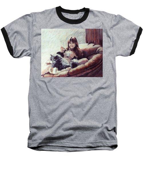 Sharing Ice Cream Baseball T-Shirt