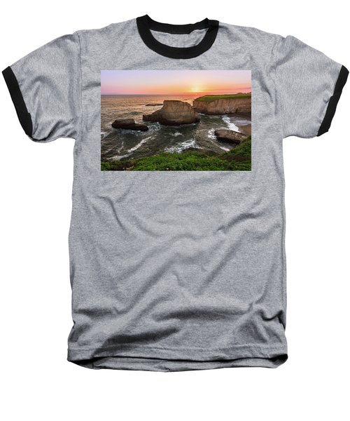 Shark Fin Cove Sunset Baseball T-Shirt