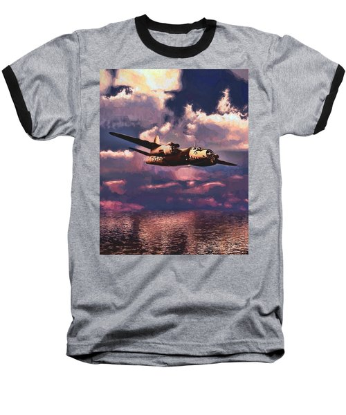 Shark On The Prowl Baseball T-Shirt