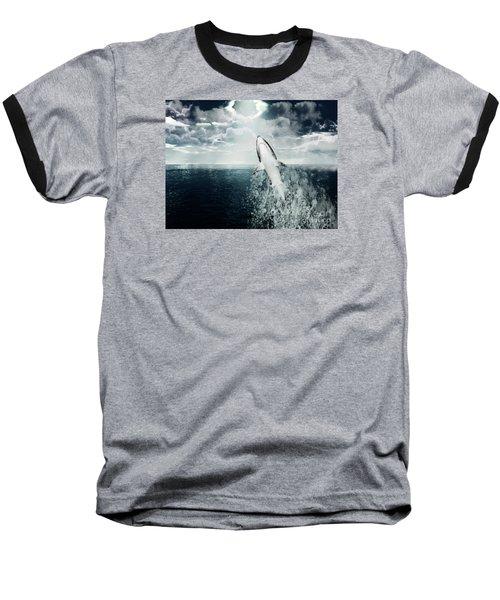 Baseball T-Shirt featuring the photograph Shark Watch by Digital Art Cafe
