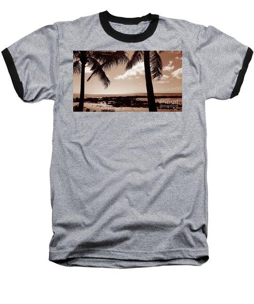 Shark's Cove Baseball T-Shirt by Kristine Merc