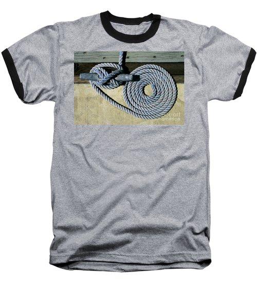 Sharon Hudson Marine Abstract - Coiled Ropes Baseball T-Shirt