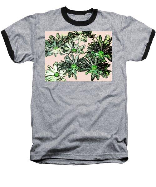 Shasta Daisies Watercolor Sketch Baseball T-Shirt