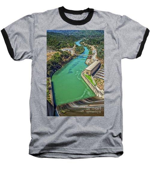 Shasta Lake Dam Baseball T-Shirt by Billie-Jo Miller