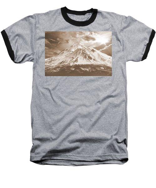 Shasta Mt Baseball T-Shirt by Athala Carole Bruckner