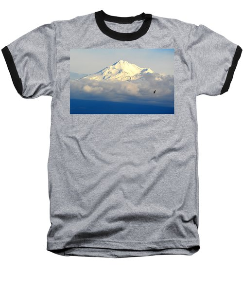Shasta Near Sunset Baseball T-Shirt
