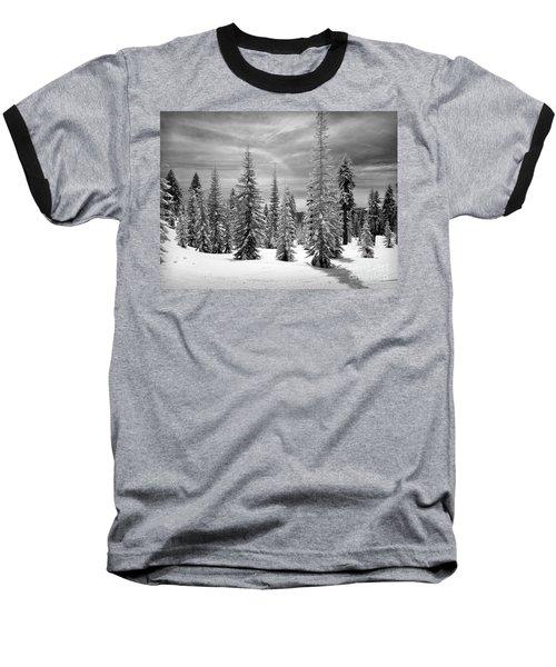Shasta Snowtrees Baseball T-Shirt