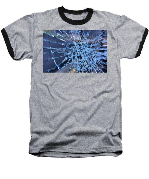 Shattered Glass In Color Baseball T-Shirt