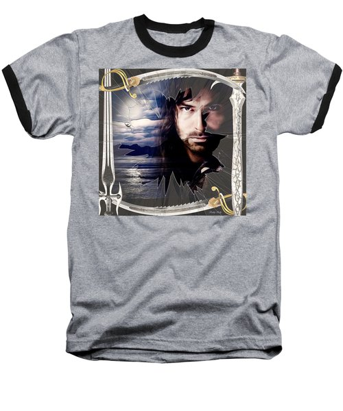 Shattered Kili With Swords Baseball T-Shirt