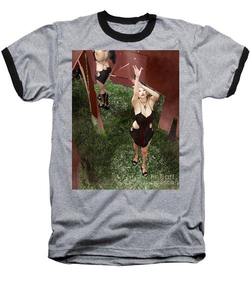Shattered Reflection Baseball T-Shirt