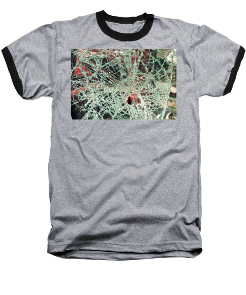 Baseball T-Shirt featuring the photograph Shattered Two by Fran Riley