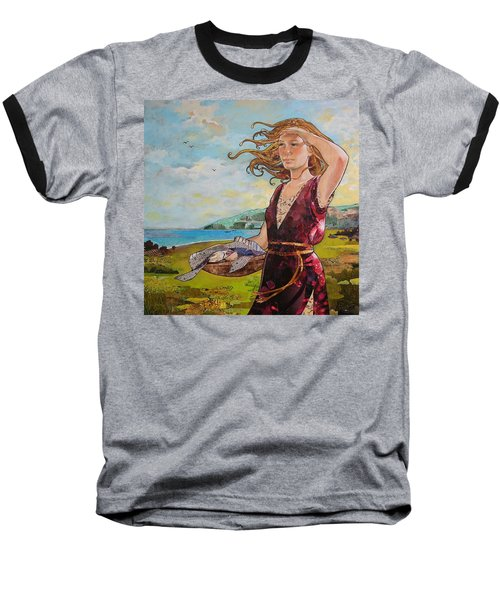 She Baked The Loaves And Dried The Fishes Baseball T-Shirt by Robin Birrell