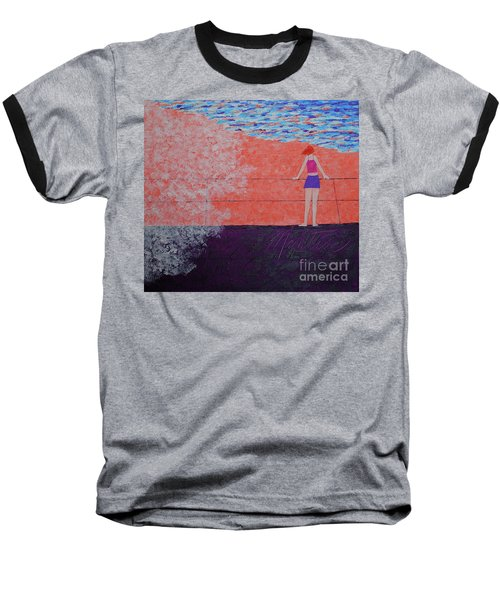 The Beach At Sunset Baseball T-Shirt