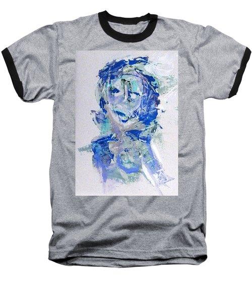 She Dreams In Blue Baseball T-Shirt