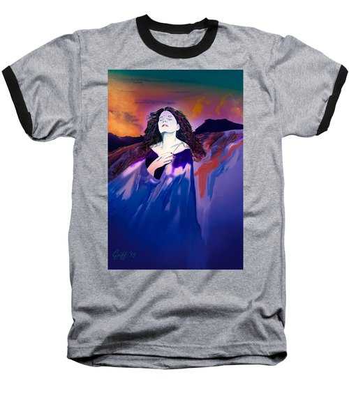 She Dreams In Rainbow Colors Baseball T-Shirt by J Griff Griffin